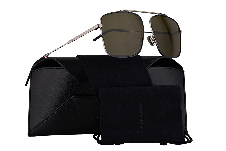 01318a4d4011 Amazon.com  Christian Dior Homme Dior0220S Sunglasses Blue Palladium  w Green Lens 58mm ECJQT Dior0220 S Dior 0220 S Dior 0220S  Clothing