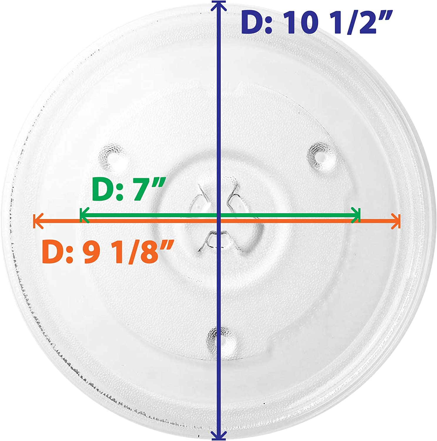 Compatible Hamilton Beach 252100500497 Microwave Glass Turntable Tray 10 1//2 Replacement Hamilton Beach HB-P90D23A Microwave Glass Plate 270mm