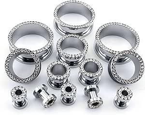 Handmade Mahogany and Resin Ear Plug Gauged Jewelry 25mm 1 inch