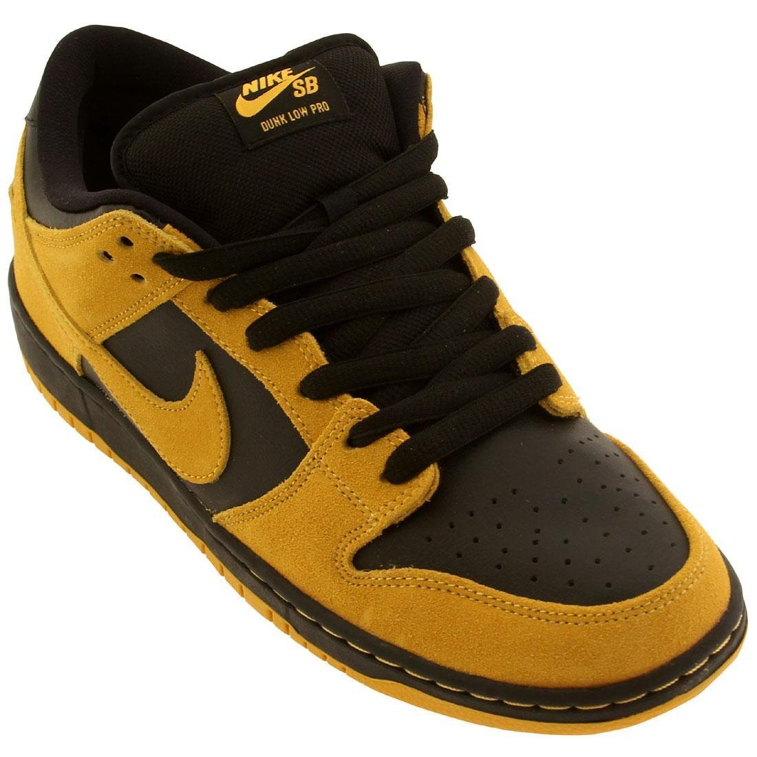 NIKE Skateboard Shoes Dunk Low Pro University Gold/Black  6