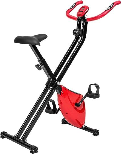 TecTake Maquina Fitness Plegable Bicicleta ESTATICA + Monitor: Amazon.es: Deportes y aire libre