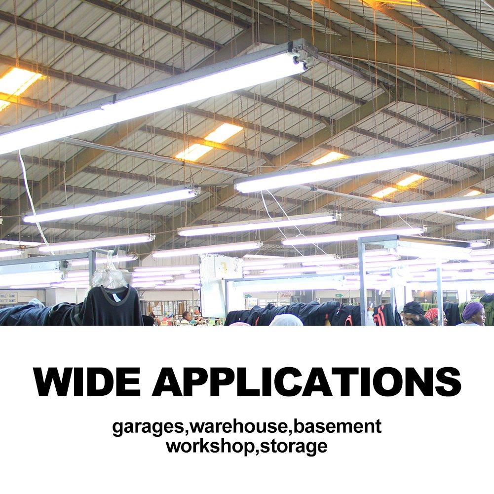 Details about 72w 8ft led shop light bbounder 5000k 8400 lumen surface mounted led strip light