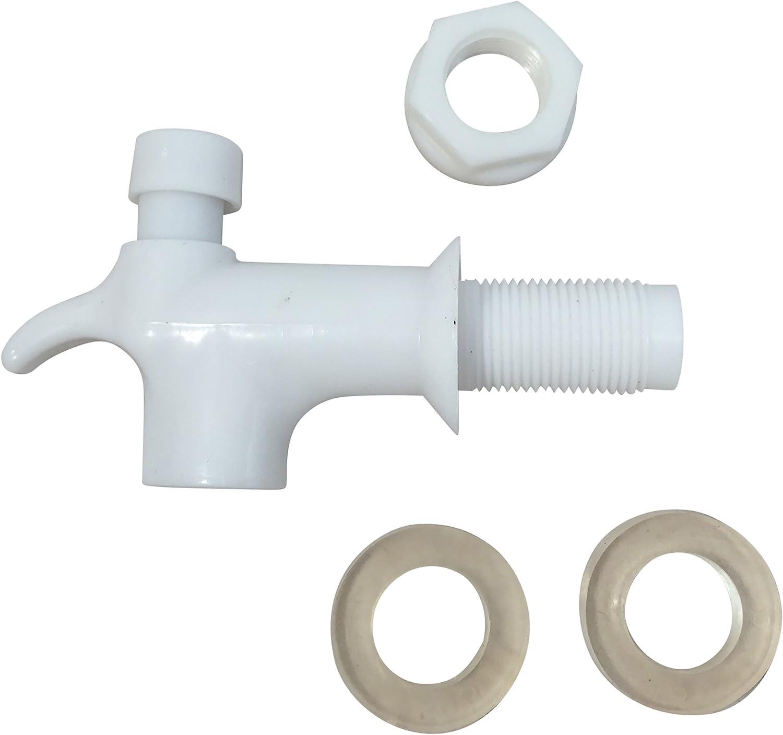 Water Dispenser Replacement Faucet Push Button Spigot Type White Male Restricted Flow [PRO009M] - Llave para Garrafon de Macho Typo Boton