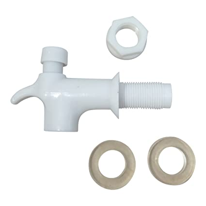 """Madol agua dispensador repuesto grifo botón tipo – -Blanco macho (1/2 """""""