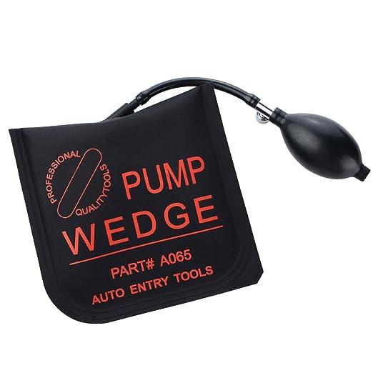 Bomba De Aire Cuña,Cuña Hinchable Inflable,Airbag potente coche bomba de mano cerrajero herramientas abridor de puerta cuña (2 × Cuadrados)