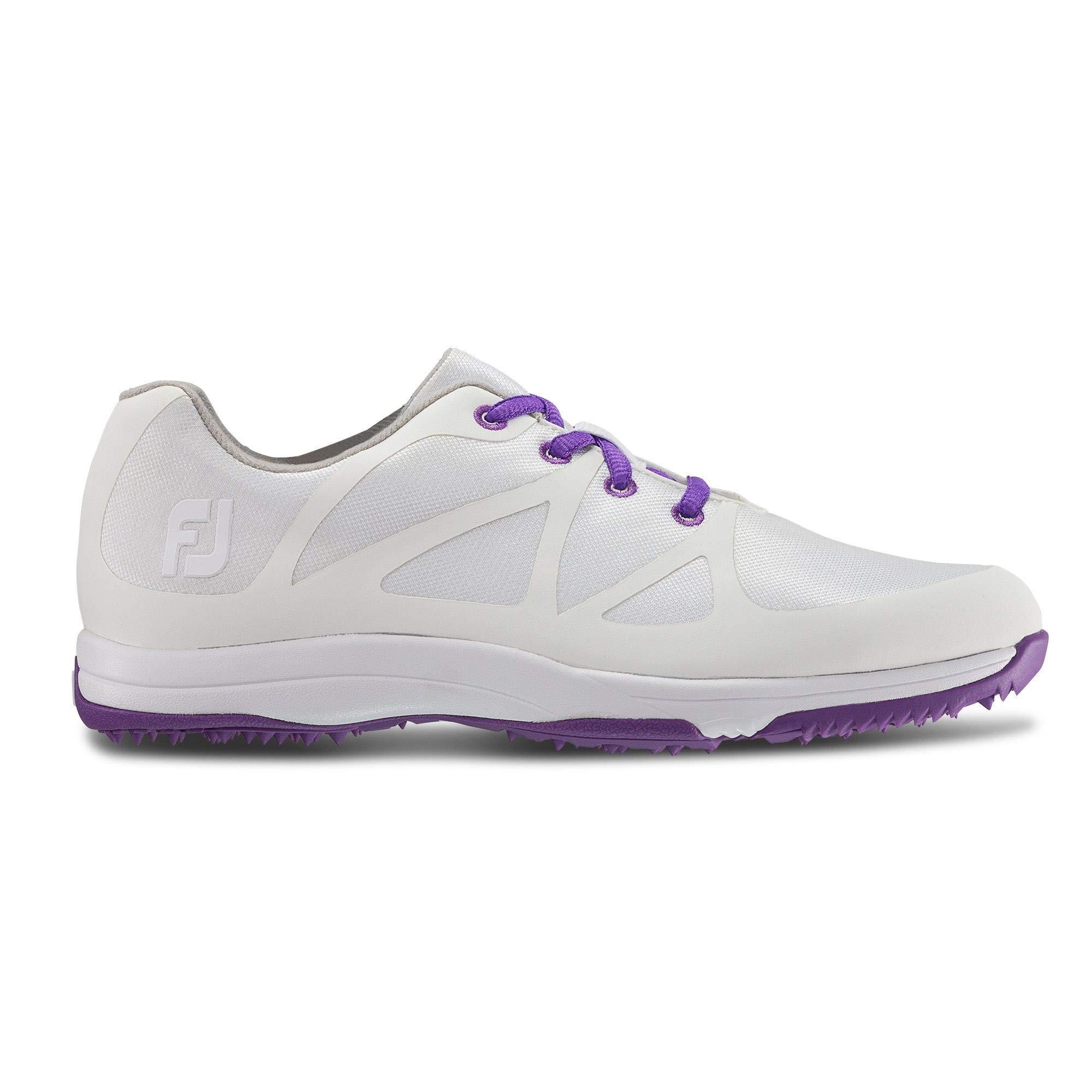 FootJoy Women's Leisure-Previous Season Style Golf Shoes White 5 M Purple, US