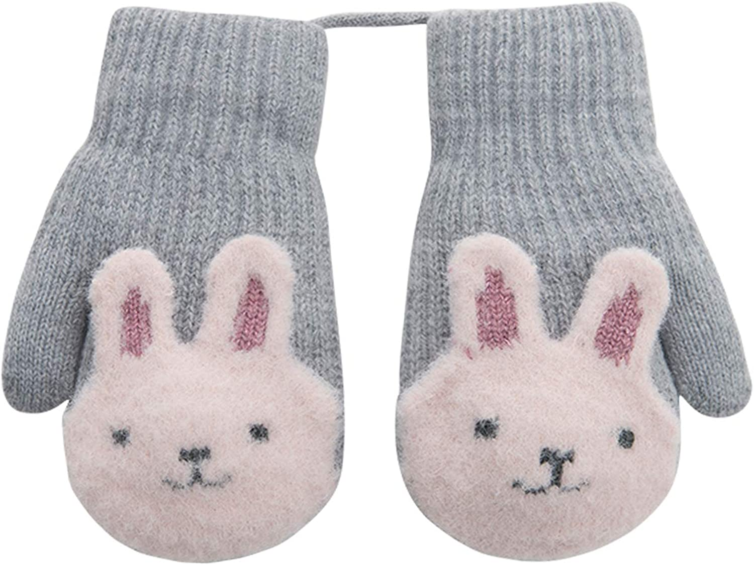 Details about  /Thick Warm Winter Kids Mittens Cute Animal Design for Fashionable Girls