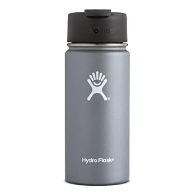 Hydro Flask Double Wall Vacuum Insulated Stainless Steel Water Bottle / Travel Coffee Mug, Wide Mouth with BPA Free Hydro Flip Cap