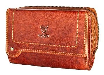 a3251557eaefe MATADOR Echt Leder Damen Geldbörse Portmonee Gross Geldtasche RFID Schutz  Braun Verstaungsmöglichkeiten mit Hochwertige Geschenkbox