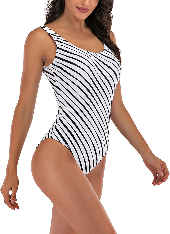 Achruor Badeanzug Damen Bauchweg Sport Bademode R/ückenfrei mit G/ürtel Strandanzug Push up Schlankheits Schwimmanzug