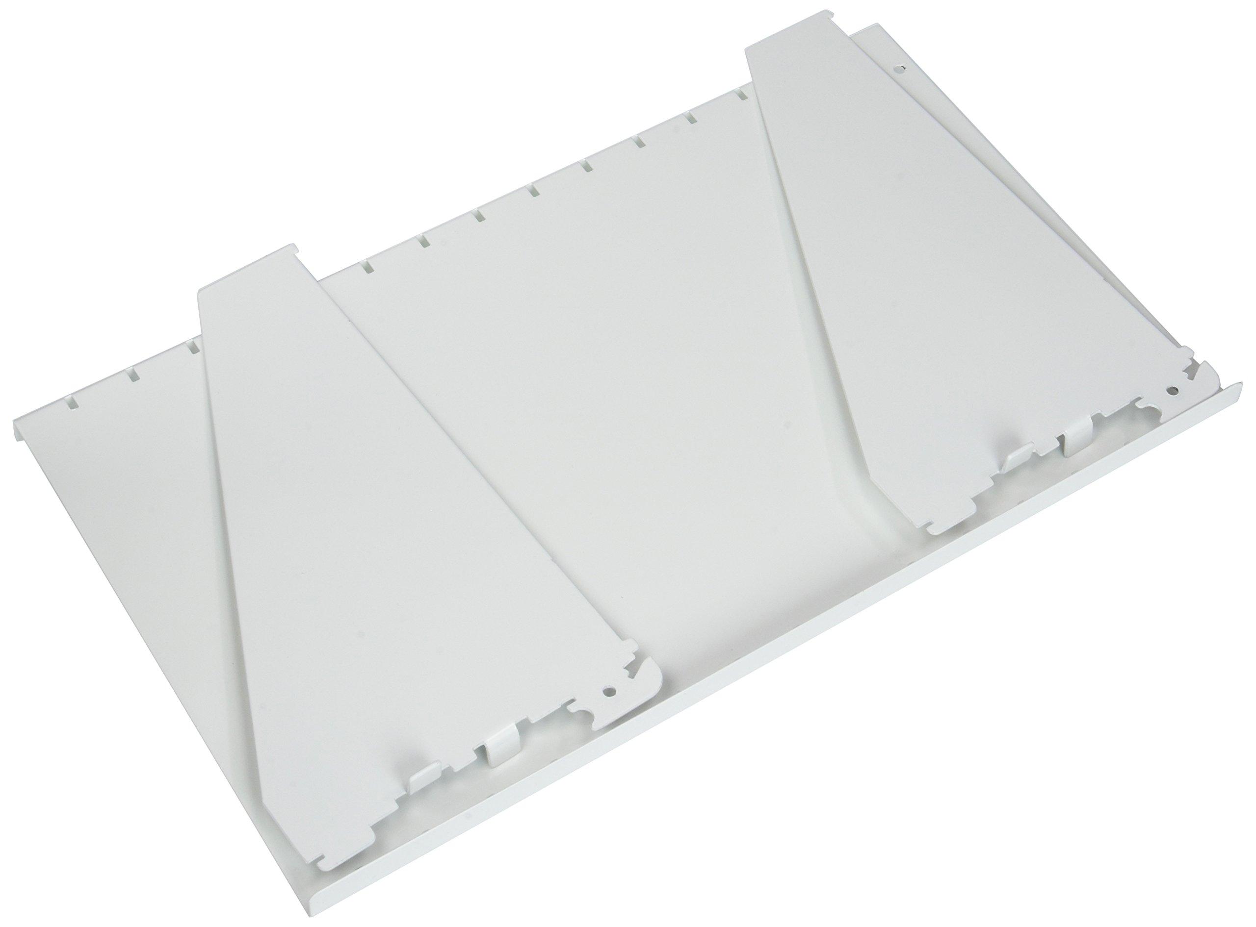 Wall Control ASM-SH-1609 W 9'' Deep Pegboard Shelf Assembly for Wall Control Pegboard Only, White by Wall Control