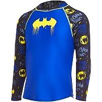 Zoggs Boys' Batman Long Sleeve Sun Top with UPF 50+ Rash Vest