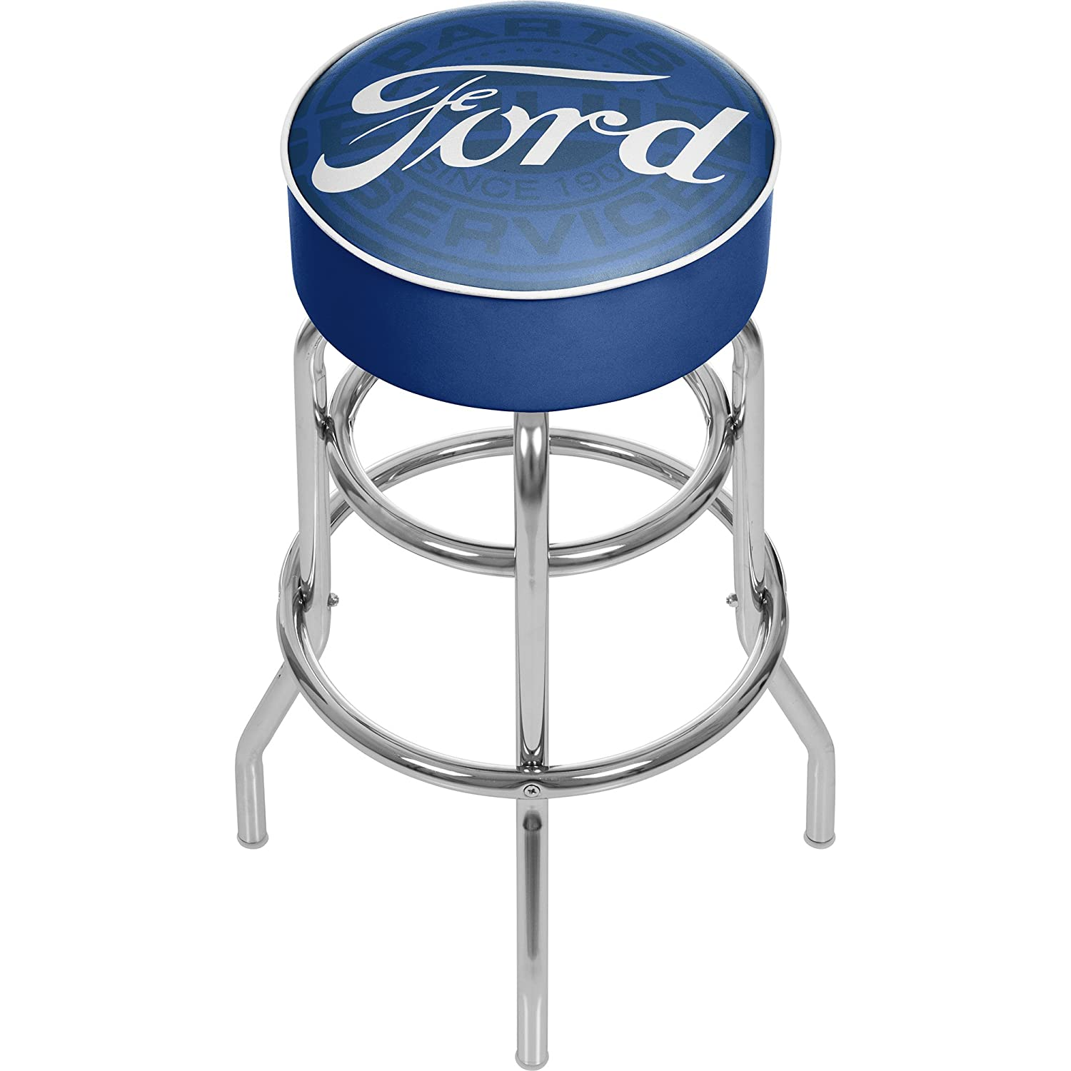 Trademark Gameroom Ford Padded Swivel bar Stool Ford Genuine Parts Trademark Global FD1000-FGP