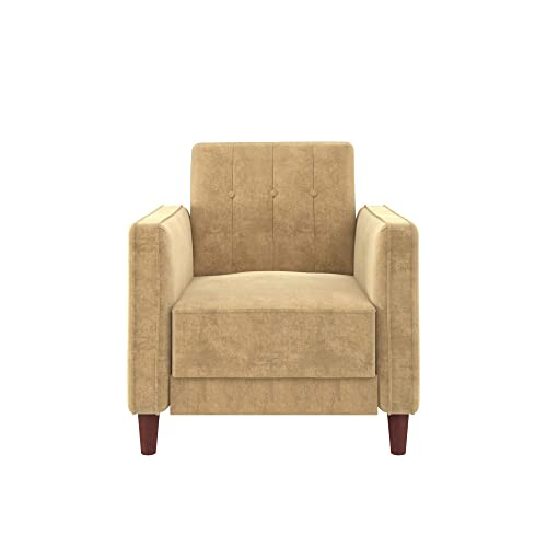 DHP Ivana Accent Chair, Tan Velvet