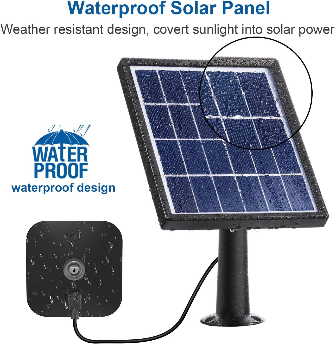 Solar Panel Energieversorgung Kompatibel Mit Innen Und Außen Blink Xt Überwachungskamera Wasserdicht Einstellbare Halterung Kontinuierliche Energieversorgung 12 Fuß 3 6 M Kabel Schwarz Baumarkt