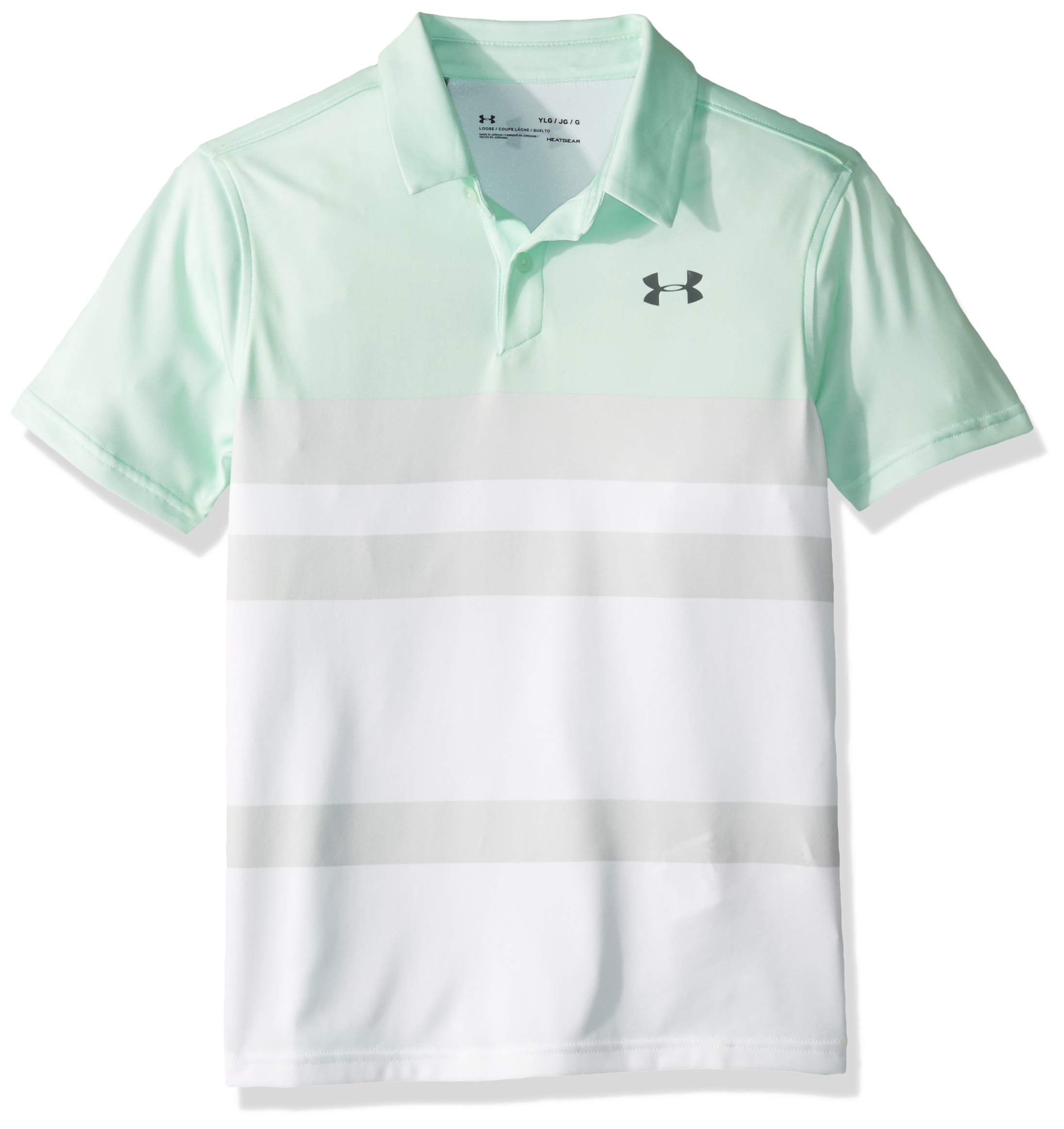 Under Armour Jordan Spieth 1st Major Saturday Polo, Aqua Foam//Pitch Gray, Youth X-Small by Under Armour