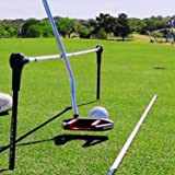 Alignment Pro Golf Training Aids – 2 x 48 inch Alignment Sticks with a Difference – Twin Rotating End Rods Mean a 3-in-1 Putt