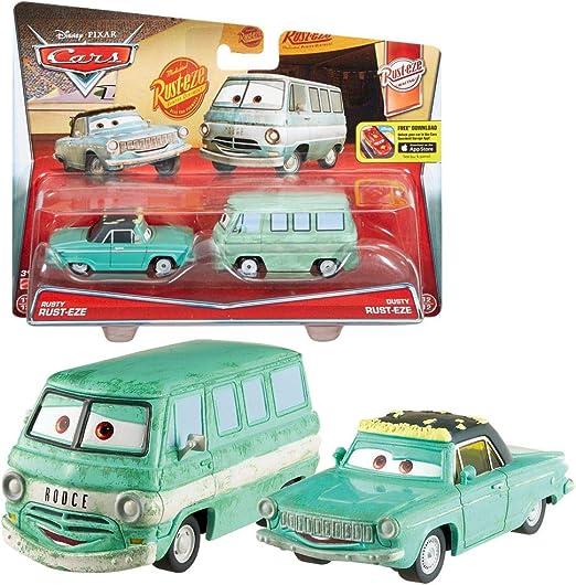Mattel Selección Modelos Doble Pack | Disney Cars | Cast 1:55 Vehículos, Cars Doppelpacks:Rusty & Dusty Rust-Eze: Amazon.es: Juguetes y juegos