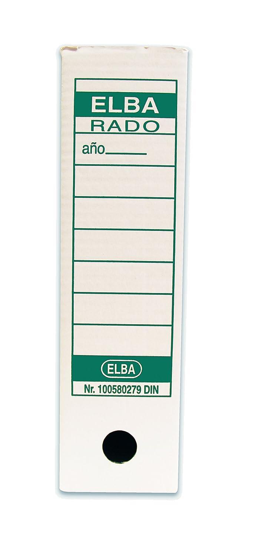 Elba 100580279 - Caja de 50 cajas archivo definitivo, cartón microcanal, A4: Amazon.es: Oficina y papelería