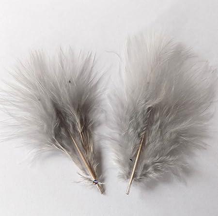 Silver Grey Marabou