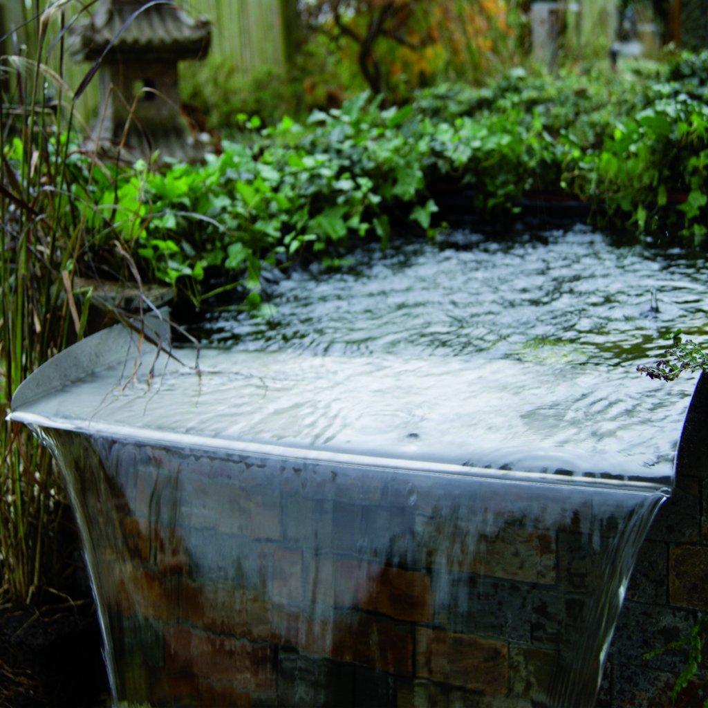 ubbink brisbane 30 waterfall overspill unit amazon co uk garden