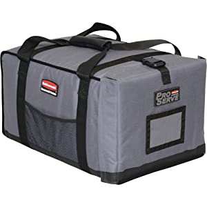 Rubbermaid Commercial ProServe Full-Size Food Pan Insulated Carrier, End-Load, Gray, FG9F1200CGRAY