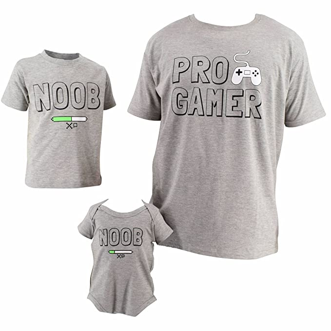 1d790b3c Unique Baby UB Daddy Me Pro Gamer Noob Father's Day Shirts: Amazon.ca:  Clothing & Accessories