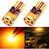 Phinlion 194 LED Amber Yellow Bulb Super Bright Wedge 168 2825 2827 T10 15-SMD 4014 Chipsets LED Replacement Bulbs for Car Li