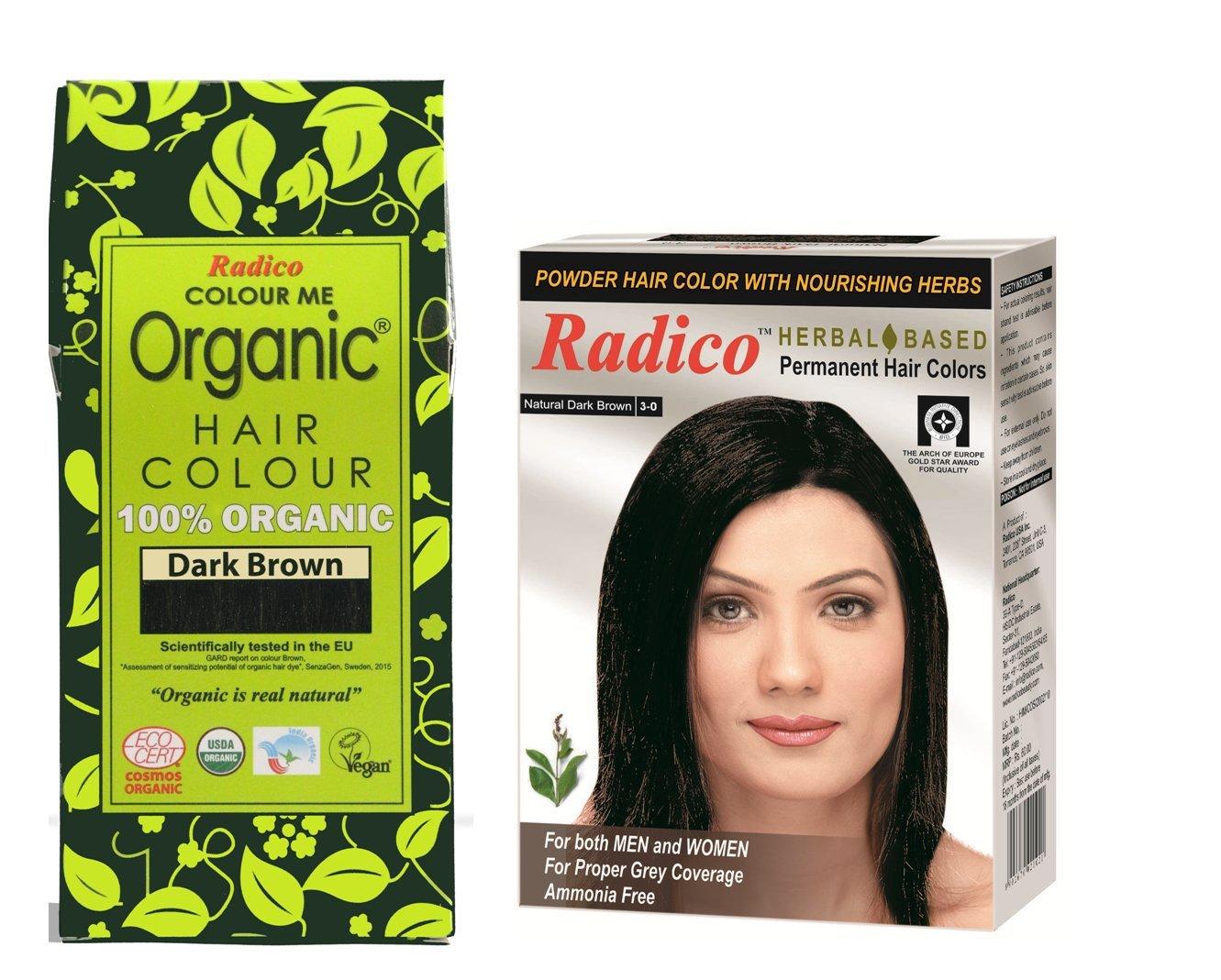 Amazon Radico Dark Brown 100 Organic Hair Color With