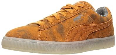 PUMA Men's Suede Classic Elemental Fashion Sneaker, Burnt Orange, ...
