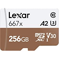 Lexar Professional 667x 256GB UHS-I / Class 10 microSDXC Memory Card with SD Adapter