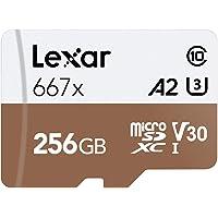 Lexar Professional 667x 64GB microSDXC UHS-I/U3 Tarjeta, 256 GB