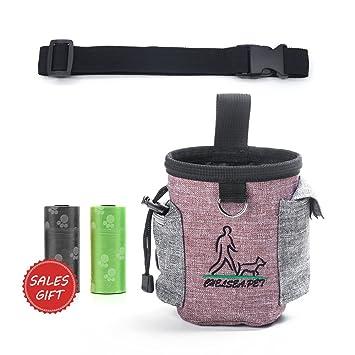 PupMate Bolsa para perros para el entrenamiento al aire libre, Llevar golosinas, juguetes,