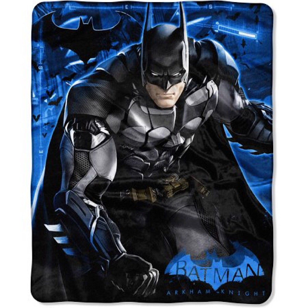 DC Comics Batman Arkham Bedding Throw Blanket - Kids