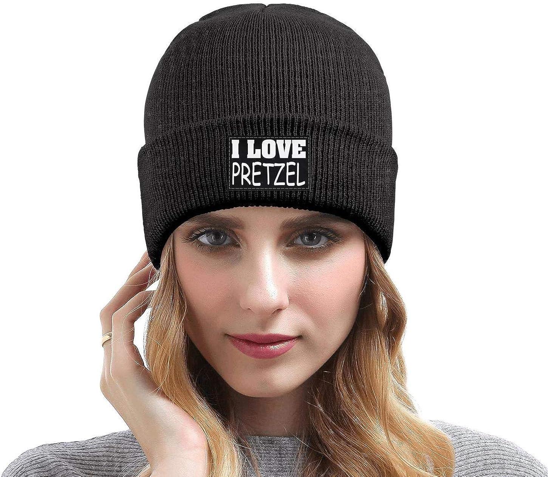 ZYNEW I Love Pretzel Mens Women Winter Hat Warm Woolen Sport Skull Cap One Size
