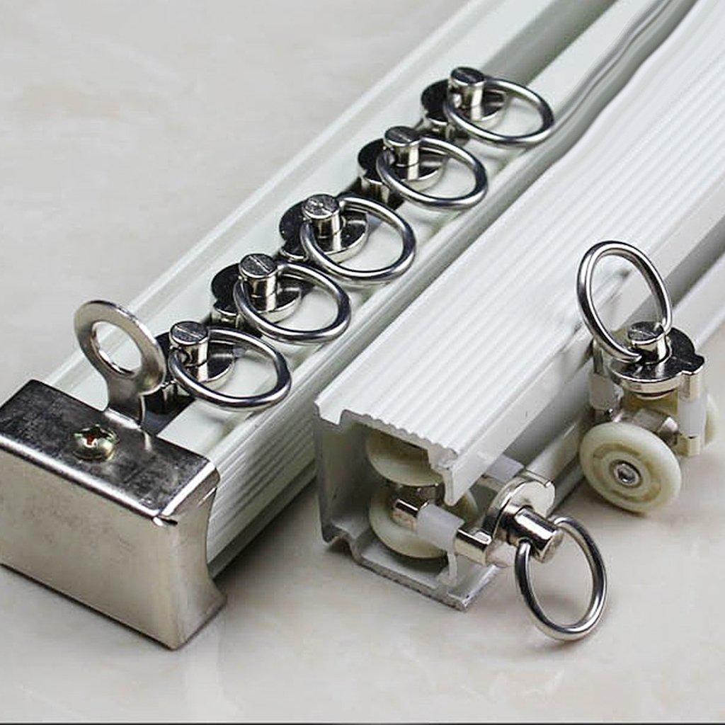 PETSOLA 20 Pi/èces Rouleaux de Rail Planeur de Voie de Rideau Plastique Twin /à roulettes en Alliage daluminium