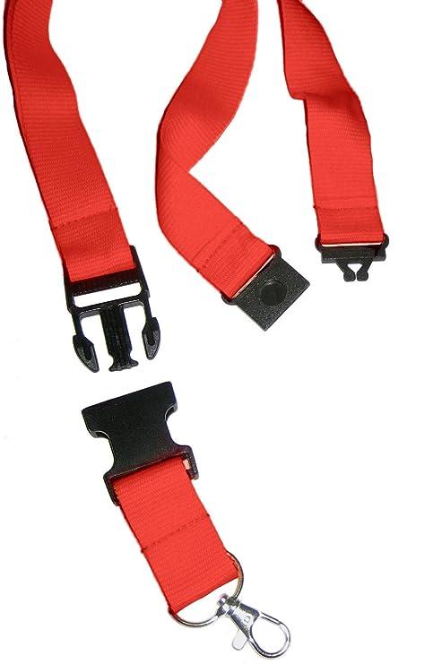 Amazon.com: Cordón con Clip de seguridad y llavero (rojo ...