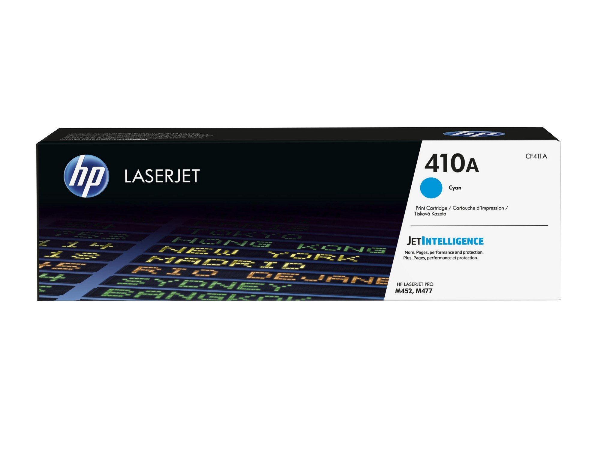 HP 410A (CF411A) Toner Cartridge, Cyan for HP Color LaserJet Pro M452dn, M452dw, M452nw, MFP M377dw, MFP M477fdn, MFP M477fdw, MFP M477fnw by HP