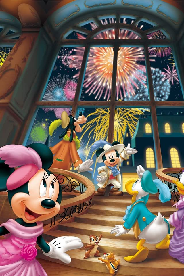 ディズニー 花火のパーティ iPhone(640×960)壁紙画像