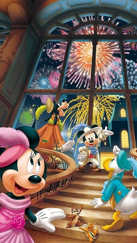 ディズニー 花火のパーティ XFVGA(480×854)壁紙画像