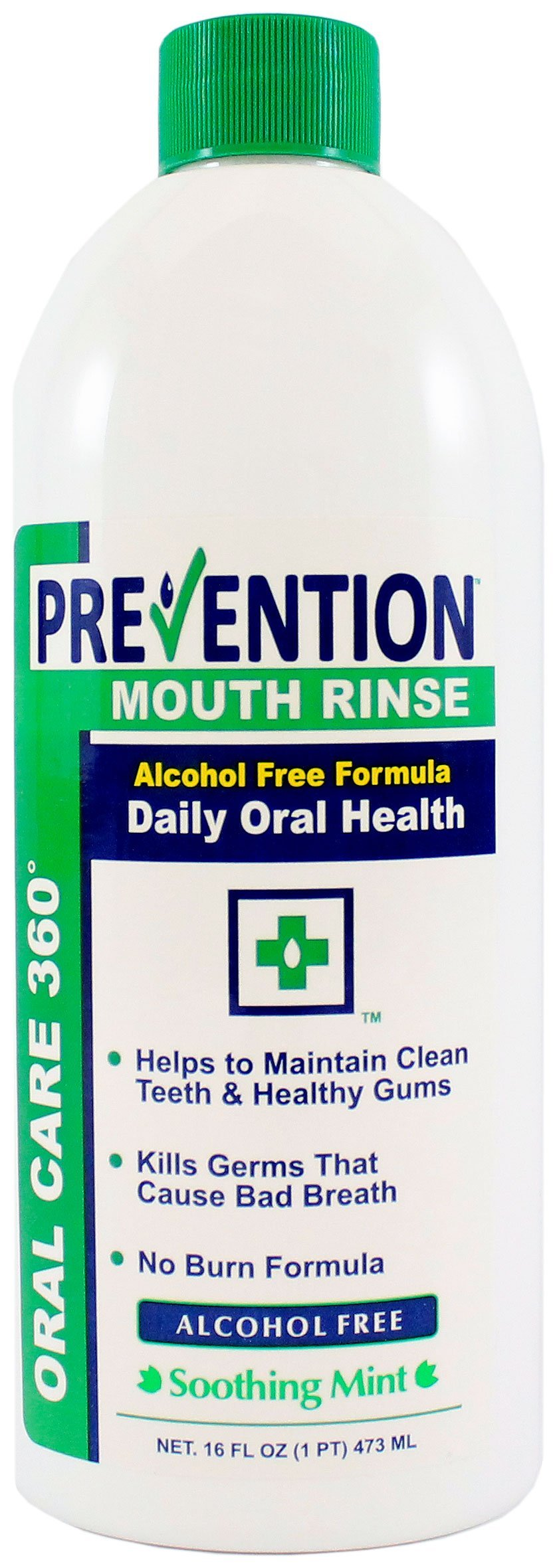 16 oz. Prevention Antibacterial Non-Alcohol Mouth Rinse 12/CS #1 Doctor Recommended