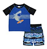 Skechers Little Boys' Swim Suit Set with Trunks and