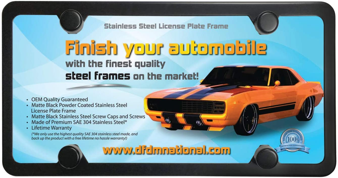 DFDM National License Plate Shield 2 Pack 4-Hole Shatter Proof Clear Acrylic Plastic Shield