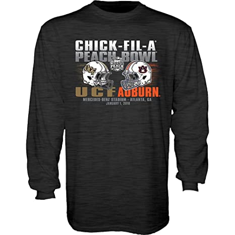 ef4cb8fad5 Elite Fan Shop Auburn Vs UCF Peach Bowl Long Sleeve Tshirt Charcoal - XXL