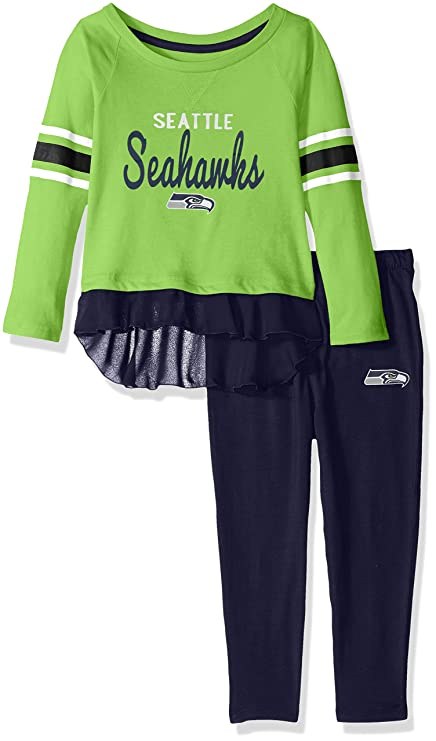 8a5597c9e Outerstuff NFL Seattle Seahawks Toddler Mini Formation Long Sleeve Top    Legging Set Action Green