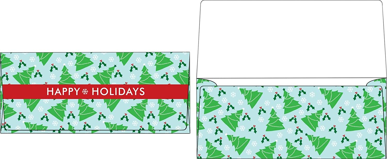 Amazon.com : Currency Envelopes (2 7/8 x 6 1/2) - Christmas Trees ...