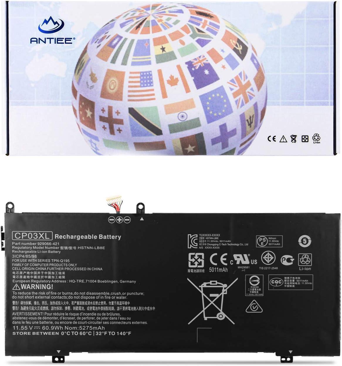 ANTIEE CP03XL Laptop Battery for HP Spectre x360 13-ae000 13-ae011dx 13-ae012dx 13-ae014dx 13-ae013dx 13-ae006no 13-ae001ng 13-ae049ng 13-ae040ng 13-ae502tu 929066-421 TPN-Q195 HSTNN-LB8E TPN-Q199