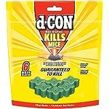 d-CON Refillable Corner Fit Mouse Poison Bait Station, 1 Trap + 6 Bait Refills