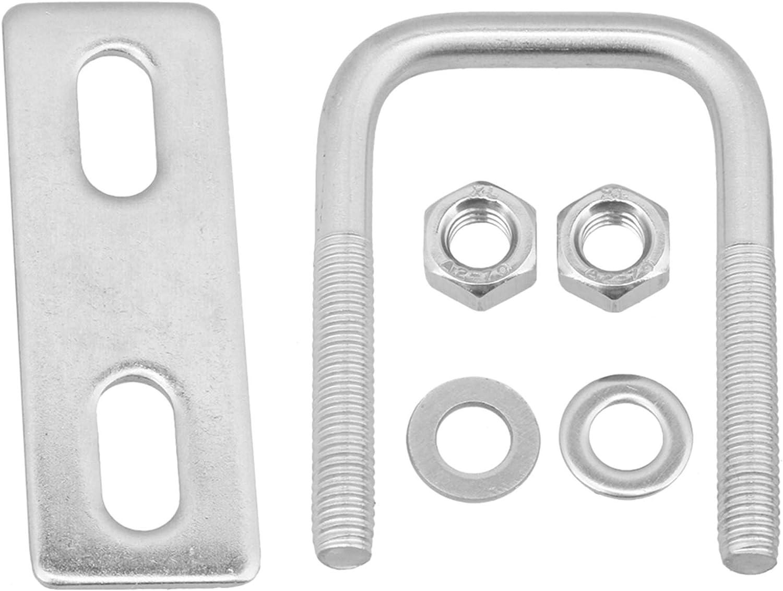 Mxfans M6x30x55 curva cuadrada en forma de U piezas de perno para fijos tubos de apriete plateado