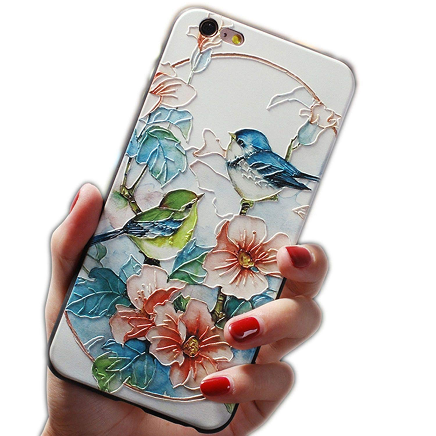 Amazon.com: 3D Emboss Flower Case for Samsung Galaxy A50 A30 ...
